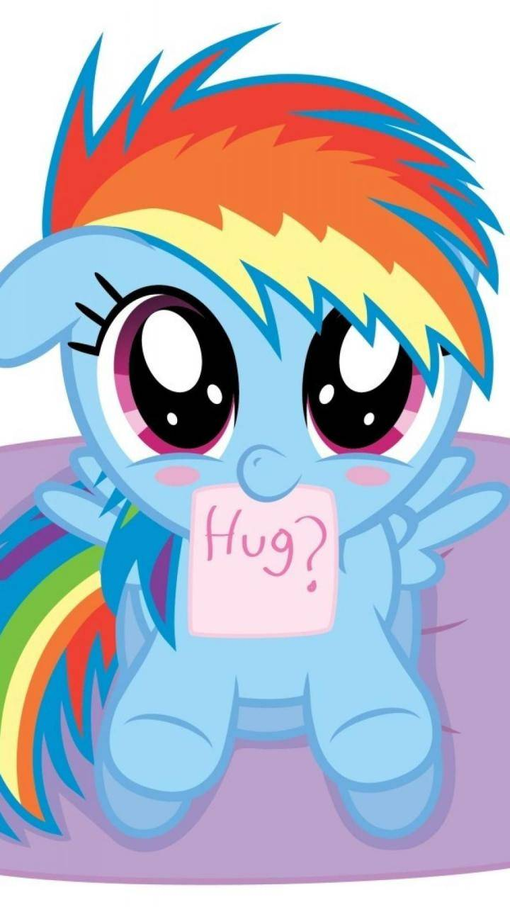 My little pony: friendship is magic hugging wallpaper | (5650)